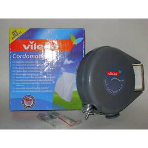 Vileda Cordomatic Retractable Clothes Washing Line 15m With Safety Guide