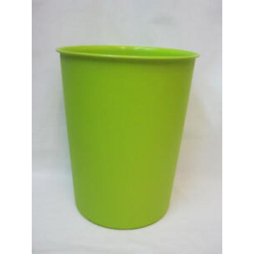 JVL Vibrance Round Waste Paper Bin Plastic Lime Green 15-223