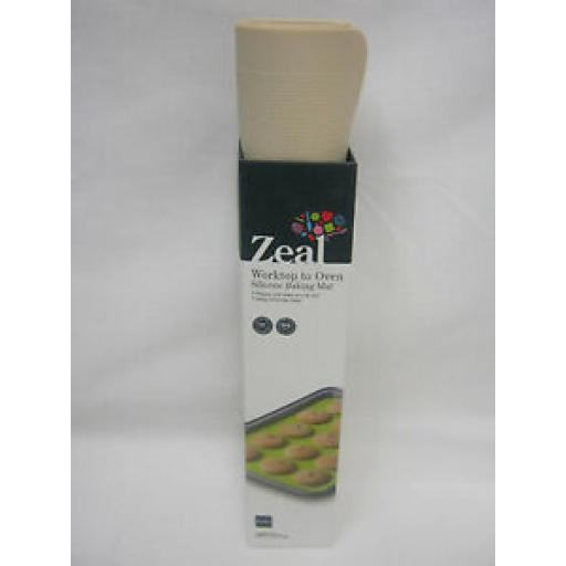 Zeal Worktop To Oven Non Stick Silicone Baking Mat Sheet N171C Cream