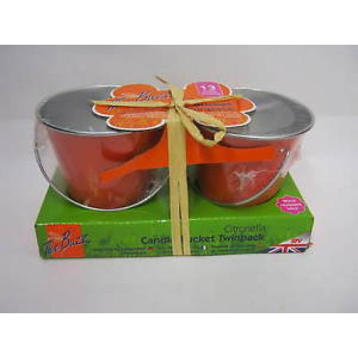 STV The Buzz Citronella Candle Bucket Twin Pack STV431