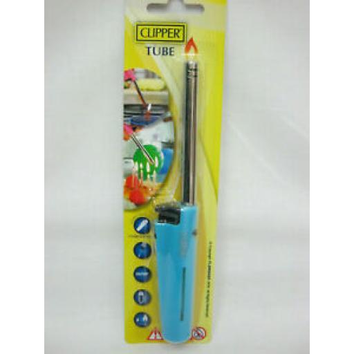 Clipper Gas Hob Cooker Fire Lighter Candle Flame Aqua Blue