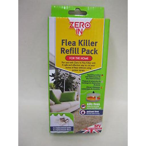 Zero In Stv Electric Flea Killer Refill Pack Poison Free Dog Cats ZER019