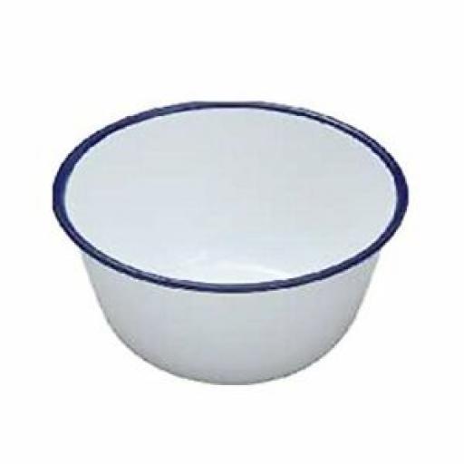 "Falcon White Enamel Pudding Basin 14cm 5 1/2"""