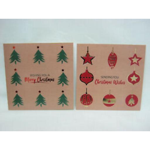 Eurowrap Luxury Christmas Cards Christmas Trees Pk 12