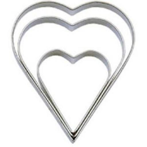 Tala Stainless Steel Heart Shaped Cutter Biscuits Set Three Pk 3 10A 09518