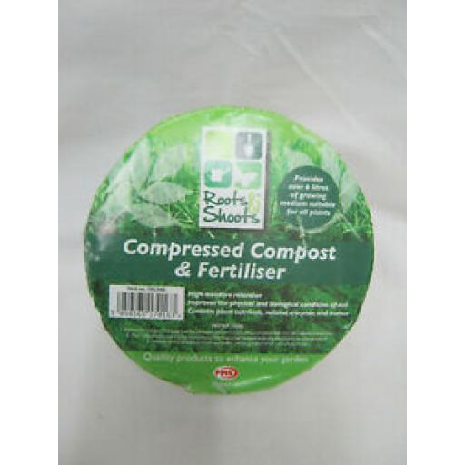 Roots And Shoots Compressed Compost And Fertiliser Provides Over 6 Litres