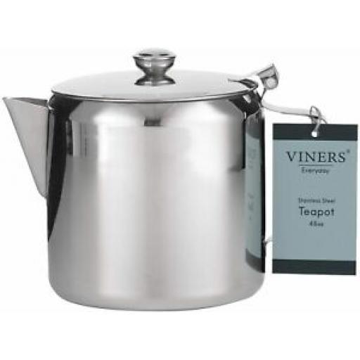 Viners Everyday Teapot Tea pot Stainless Steel 48 oz 1.5L 0302.195