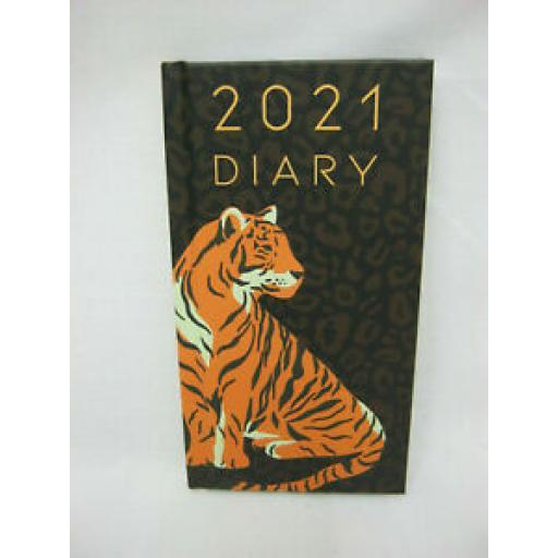 Robert Frederick Hard Back Slim Diary 2021 Tiger 21SD05