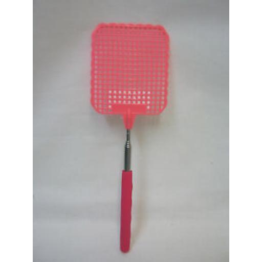 Fackelmann Telescopic Fly Swat Swotter 446785 Bright Pink