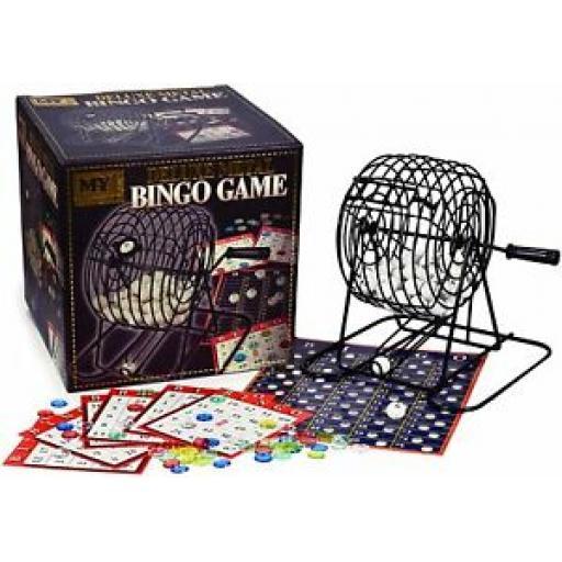 M.Y Deluxe Bingo Game Complete with Bingo Balls Dispenser Bingo Cards