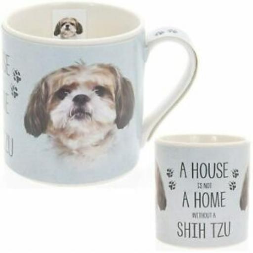 Lesser And Pavey Fine China Mug Beaker Tea Cup Mans Best Friend Shih Tzu LP34031