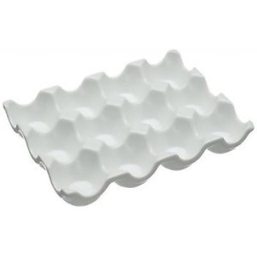 Wm Bartleet White Porcelain Egg Tray Dish 12 Eggs T356