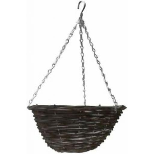 """Ambassador Willow Hanging Basket With Chain 12"""" 30cm AWHB12"""