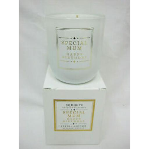 Xquisite Spring Cotton Scented Candle Glass Jar Special Mum DC015