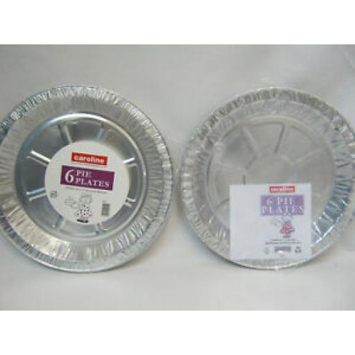 """Caroline Foil Pie Dinner Plate 9"""" Pk 6 1023 Pk2"""