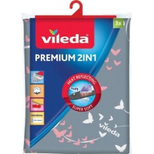 Vileda Premium 2 in 1 Ironing Board Cover 130cm x 45cm