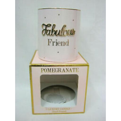 Lesser And Pavey Pomegranate Luxury Candle Fabulous Friend LP44218