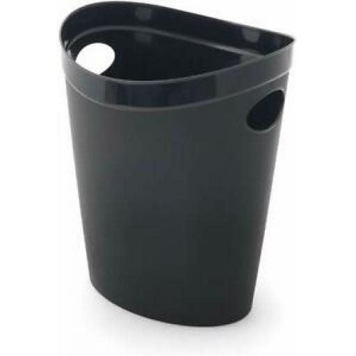 Addis Flexi Multi Storage Plastic Oval Waste Paper Bin Black 514803