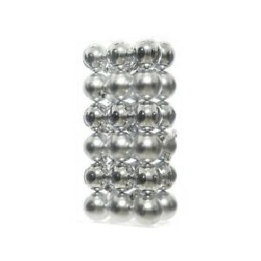 Decoris Kaemingk Assorted Baubles 60mm Silver Pk36 361686