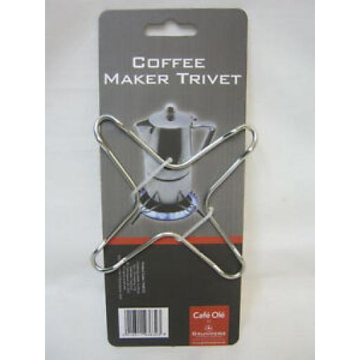 Grunwerg Cafe Ole Stainless Coffee Espresso Maker Stove Top Trivet T4287/C