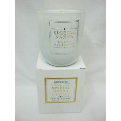 Xquisite Spring Cotton Scented Candle Glass Jar Special Nanna DC017