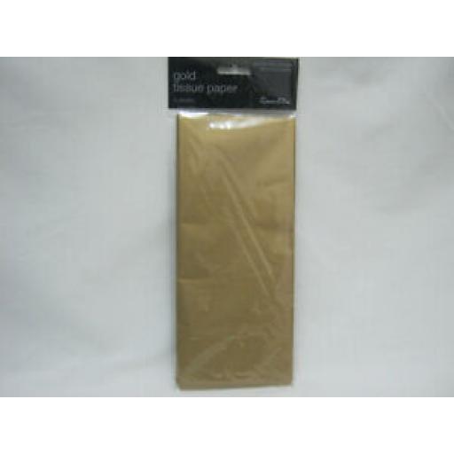 Tissue Paper Wrap Pk 3 Sheets Gold 50cm x 75cm