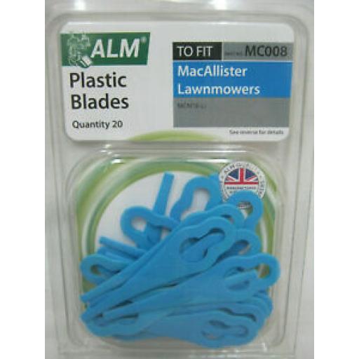 ALM Plastic Blades To Fit MacAllister Lawnmowers MCM18-LI MC008
