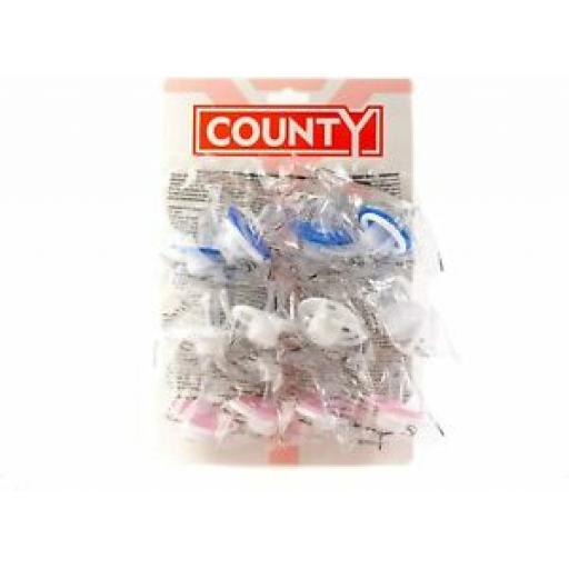 County Sales Baby Soothers Dummies Pacifiers Pack of 12