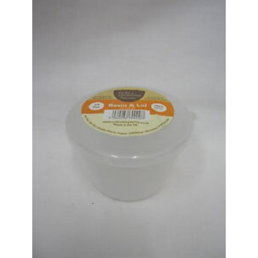 Just Pudding Basins Plastic Pudding Bowl Basin And Lid 1/4 Pint 140ml