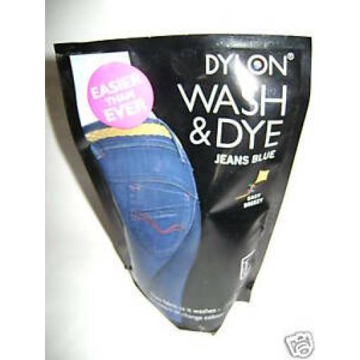 Dylon Wash & Dye Jeans Blue Machine Dye Pouch