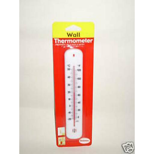 Wall Thermometer White Plastic Home And Garden Large 215mm