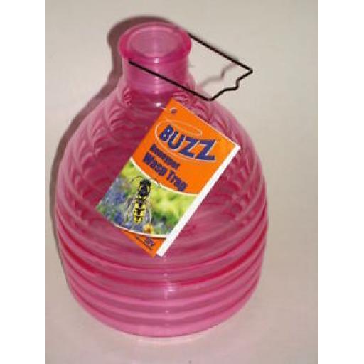 Buzz Outdoor Plastic Wasp Honeypot Trap Killer Pink STV368