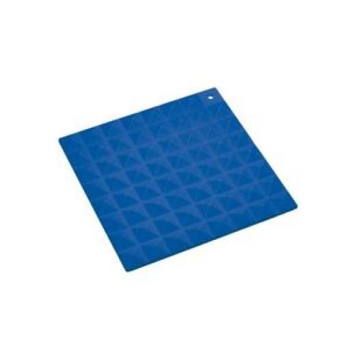 Colourworks Heat Resistant Silicone Kitchen Hot Mat Square Trivet Blue 16cm