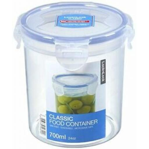 6 X Lock and & Lock Round 700ML Food Container HPL932D