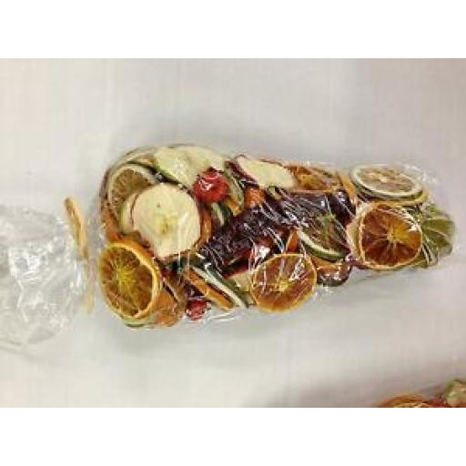 Dried Fruit Mix In A Cellophane Cone With A Raffia Tie 250gms