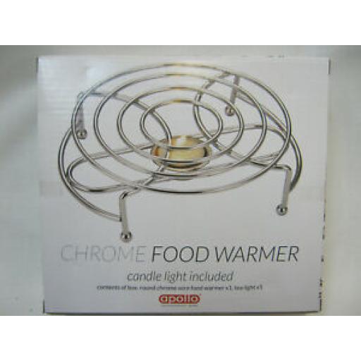 Apollo Chrome Single Food Warmer 3466