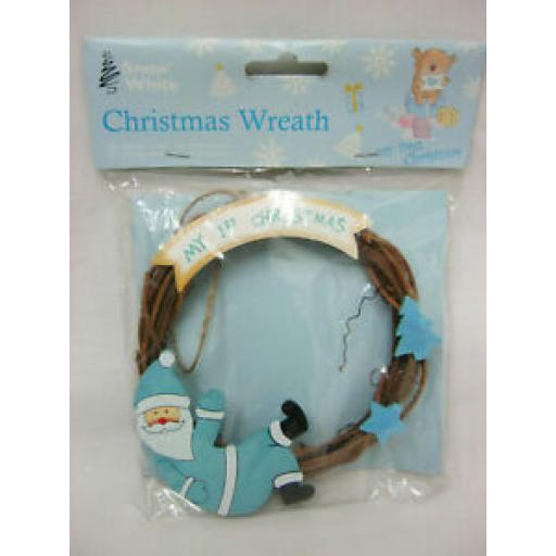 PMS Snow White Baby Christmas Wreath My 1st Christmas Blue 514023
