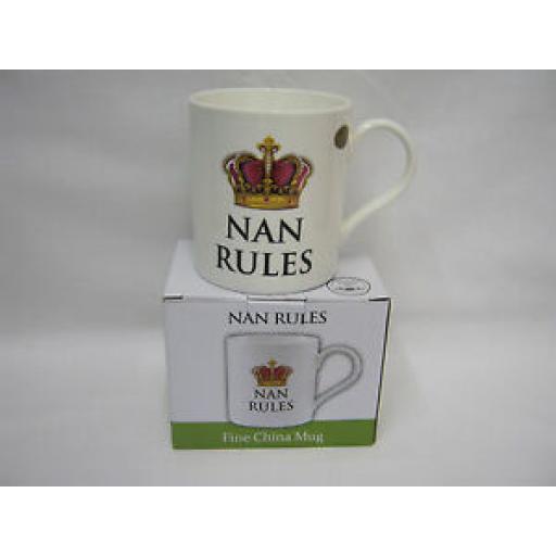 Fine Bone China Mug Beaker Coffee Tea Cup Nan Rules LP92360