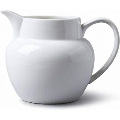 Wm Bartleet White Porcelain Bellied Milk Jug 1000ml 1 3/4 Pint T427