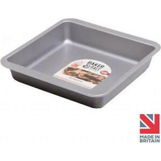 "Baker And Salt Brownie Cake Tin 9"" 22.5cm Non Stick 55730"