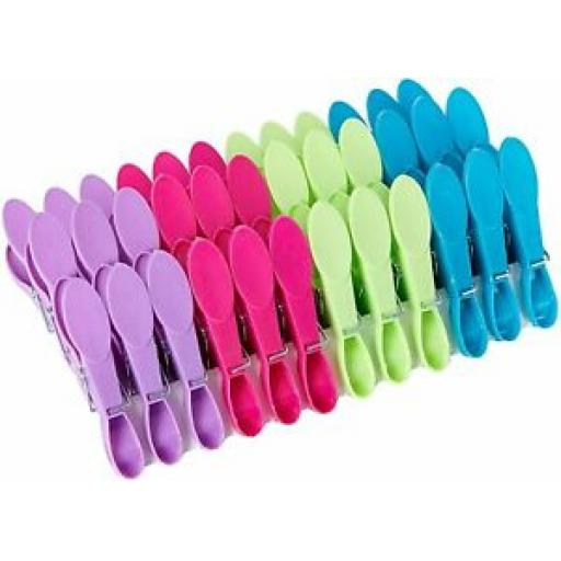 Minky Brite Plastic Pegs Pk 36