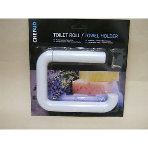 Chef Aid White Plastic Toilet Roll Towel Holder 10E02260