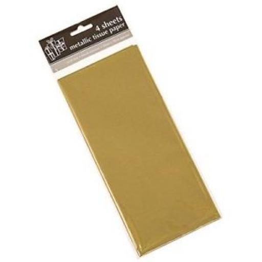 Tissue Paper Metallic Gold 20592-GOLD Pk 4 Sheets