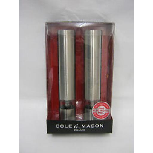 Cole And Mason Mini Electronic Salt Pepper Mill Set H3057480 Chiswick