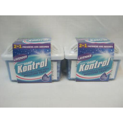 Mini Kontrol Moisture Trap & Condensation Crystal Lavender Scent Pk2