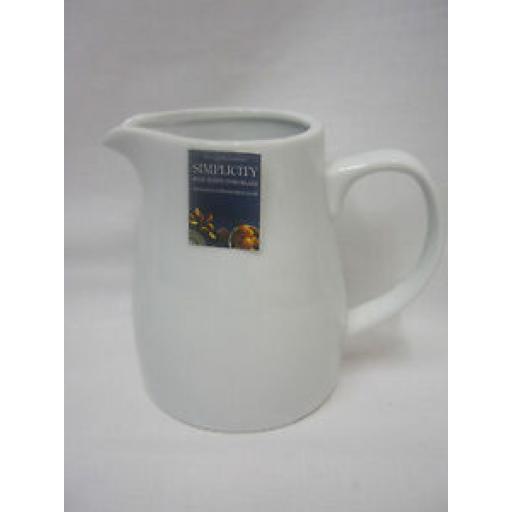 Price And Kensington Simplicity White Porcelain Milk Jug 620ml Medium