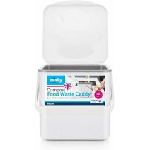 Minky Compost Food Waste Caddy White TP10100105