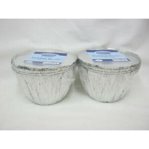 Essential Foil Pudding Bowl Basin And Lid 1LB Pack of 4 X 2 Pks