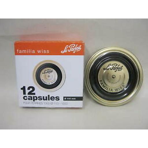 Le Parfait Metal Lids Discs Kilner Pickling Pk12 110mm