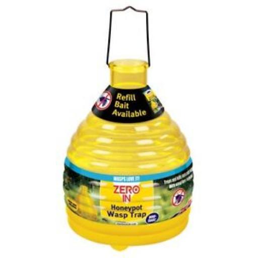 Small Buzz Outdoor Plastic Wasp Honeypot Trap Killer Yellow STV368